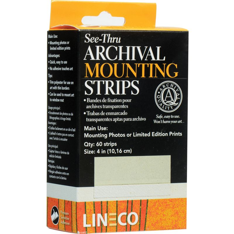 AC403187 - ACID FREE SEE THRU MOUNTING STRIPS