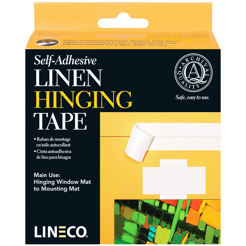AC403185 - ACID FREE SELF ADHESIVE LINEN HINGING TAPE 1 ¼""